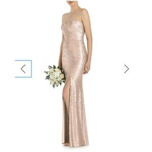 Dessy Collection sequin gown